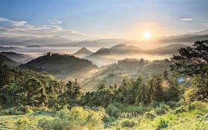 Sunrise Breathtaking Summer Mountain Desktop Backgrounds Wallpapers