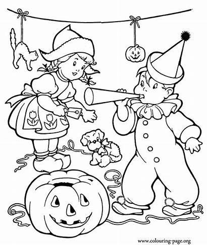 Halloween Coloring Pages Party Colouring Printable Sheets