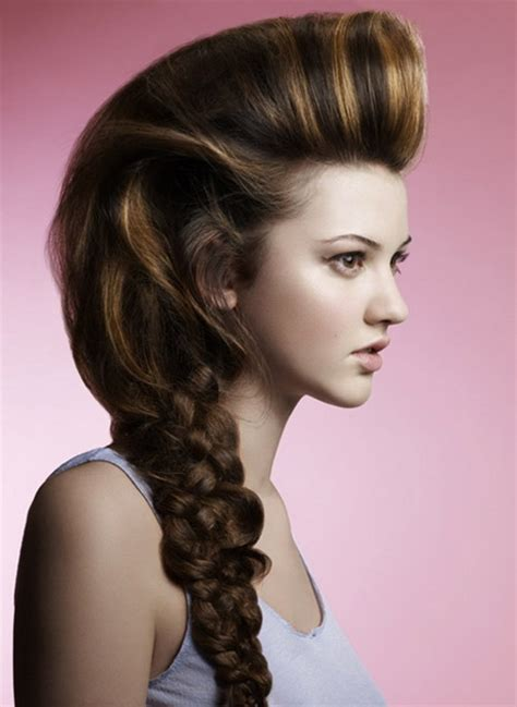 unique hairstyles  long hair
