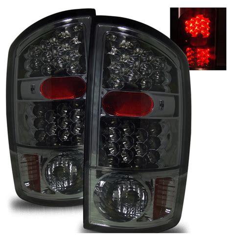 dodge ram tail lights 02 06 dodge ram 1500 2500 3500 euro led tail lights
