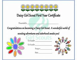 girl scout daisy investiture certificate free printable With girl scout certificate templates