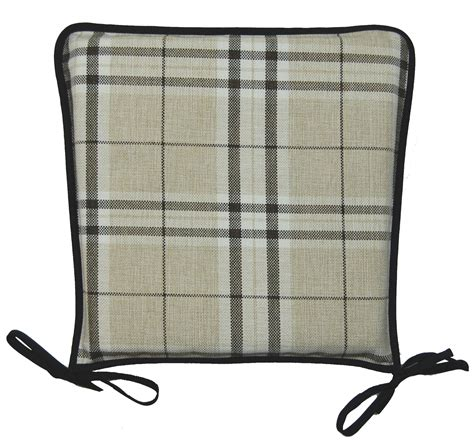 pads for chairs kitchen seat pad 100 polyester tartan check garden dining