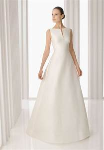 simple a line wedding dress with sleeves loro ipunya With simple satin wedding dresses