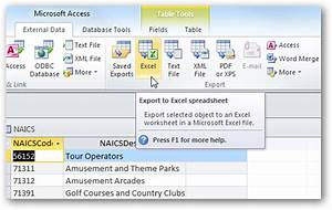 Share access data with excel in office 2010 for Export access data to excel template