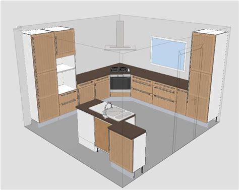 caisson hotte cuisine cuisine ikea tidaholm réalisation caisson angle pour