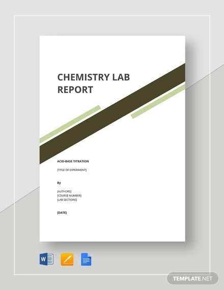 FREE 8+ Sample Chemistry Lab Reports in MS Word | PDF ...
