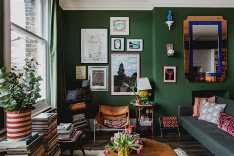 london flat     color  whimsical decor curbed