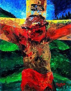 Crucifixion It Is Finished Painting by Patricia Brintle