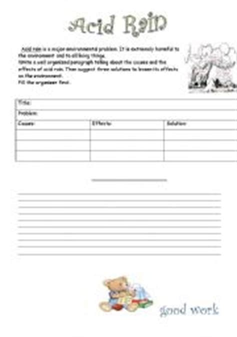 Acid Rain Worksheet Worksheets Kristawiltbank Free Printable Worksheets And Activities