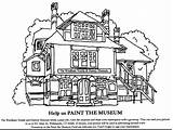 Library Building Drawing Coloring Pages Getdrawings sketch template