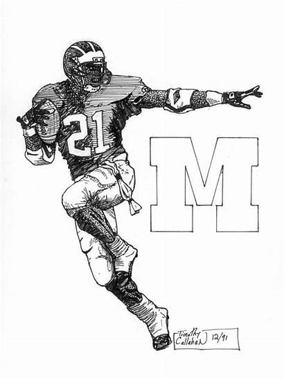 Football Michigan Drawing Hey 2006 Getdrawings Template