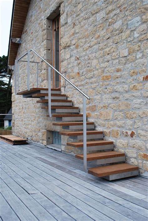 marche d escalier exterieur escaliers d ext 233 rieur bois alu acier res c 244 t 233