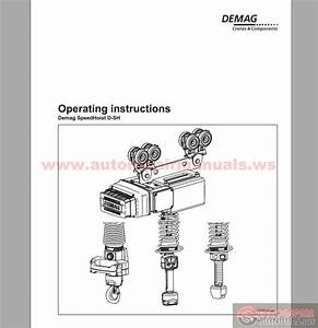 Demag Crane Speedhoist D-sh Operating Instruction