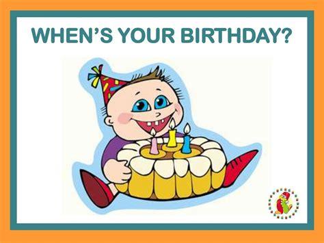 When's your birthday? - online presentation