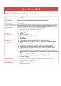 data entry description resume best free home