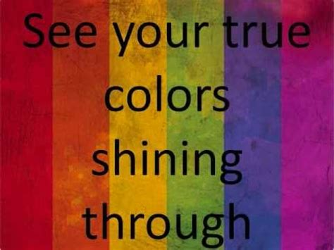 song true colors true colors lyrics on screen