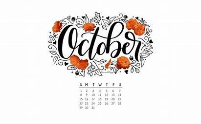 Calendar October Printable Wallpapers Computer Bydawnnicole Oktober