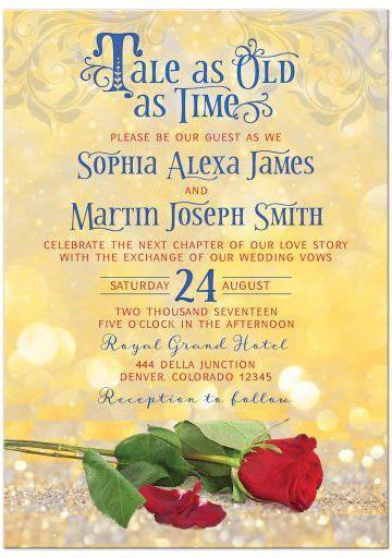 fairytale tale    time wedding invitation fairy