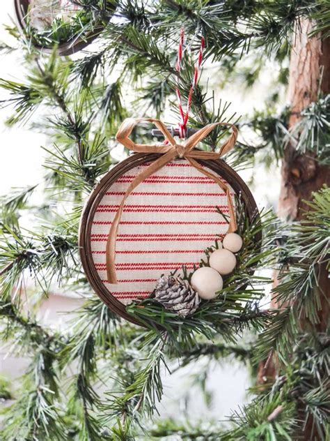 diy embroidery hoop christmas ornament  creative days