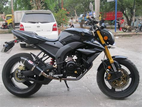 Motor Trail Byson by Modifikasi Byson Sederhana Fighter Fi Touring