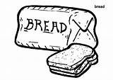 Bread Coloring Pages Wheat Loaf Colouring Printable Toast Template Breads Grains Meatloaf Clipart Clip Trending Days Last Getcolorings sketch template