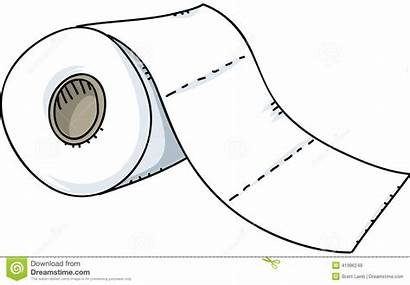Toilet Paper Roll Clipart Cartoon Illustration