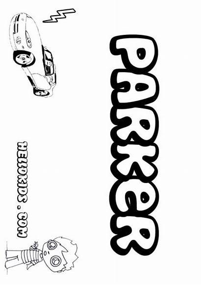 Parker Coloring Xzavier Pages Names Hellokids Boy