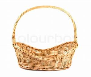 Empty wicker basket Stock Photo Colourbox