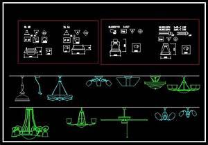 Lights engineering blocks cad drawings download