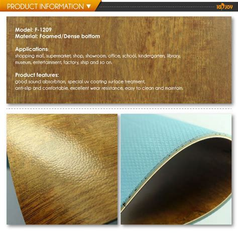 Commercial Luxury Glue Cown Wood Vinyl Flooring Rolls
