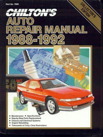 chilton car manuals free download 1988 mercury tracer lane departure warning chilton s auto repair manual 1988 92 perennial edition chilton s auto service manual at