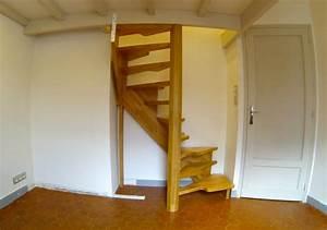 Escaliers très petit espace à Marseille MENUISERIE MD Menuiserie bois Marseille Menuiserie MD