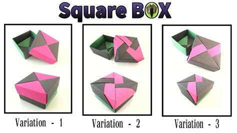 Fuse Box Tutorial by Square Gift Box With Lid 3 Variations By Tomoko Fuse
