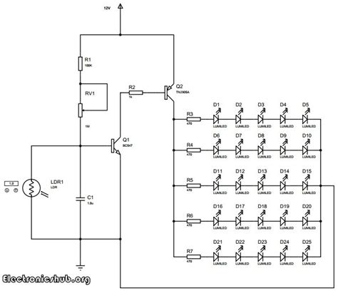 Auto Intensity Control High Powered Led Lights Circuit