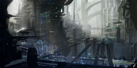 Scifi City 0 By Solarsouth On Deviantart
