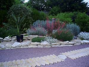 stunning jardin rocaille mediterraneen photos amazing With attractive exemple d amenagement de jardin 7 murets au jardin