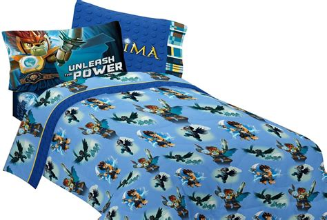 4pc lego legends chima sheet set laval full bed blue