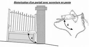 Portail Coulissant En Pente : motorisation d un portail moteur portail verin ~ Premium-room.com Idées de Décoration