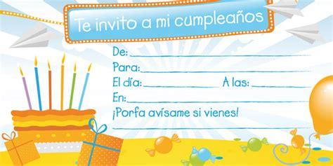 tarjetas de cumplea os para ni as invitaciones de cumpleaños gratis pequeocio