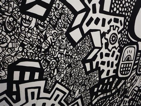 black  white art graffiti murals heyapathy surreal comics