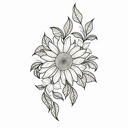 Sunflower Tattoo Temporary