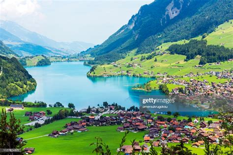 Valley Of Lake Lungern Or Lungerersee In Obwalden