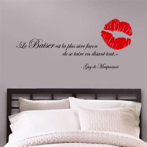 autocollant mural lettrage le baiser