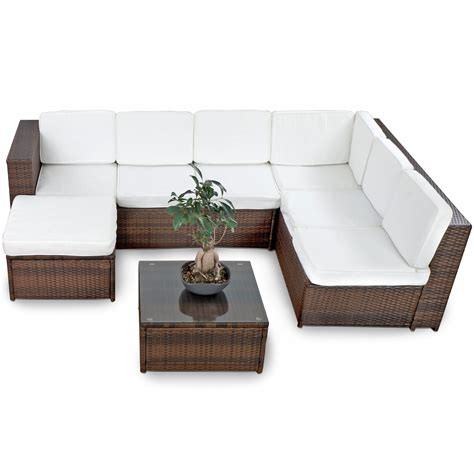 lounge set polyrattan xinro 19tlg xxxl polyrattan gartenm 246 bel lounge sofa