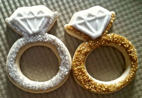 engagement ring cookies sugar cookie designs