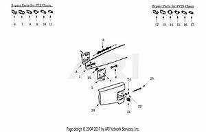 Poulan Pp375 Gas Saw  375 Gas Saw Parts Diagram For Chain