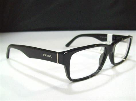 s designer eyeglasses prada pr 16mv s black designer eyeglass frames ebay