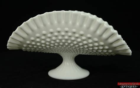 vintage white hobnail milk glass l vintage fenton hobnail white milk glass footed pedestal
