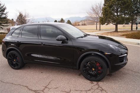 cayenne porsche black 2013 porsche cayenne turbo black on blacken black pdcc ptv