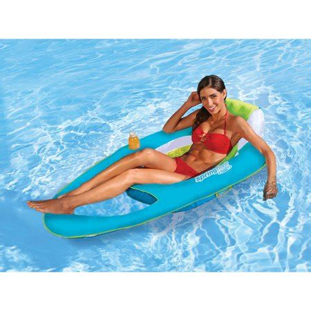 reclining pool float swimways float recliner walmart